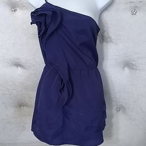 Purple Esley Cocktail Minidress